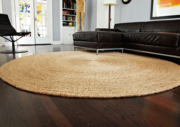 braided jute rounds - Natural Area Rugs
